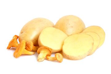 Mushrooms with potatos