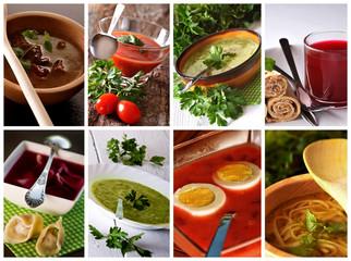 Zupy - kolaż