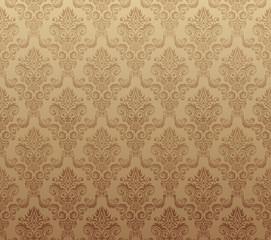 Vector illustration of brown seamless wallpaper pattern