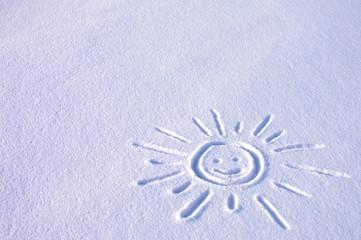 Słoneczko na śniegu