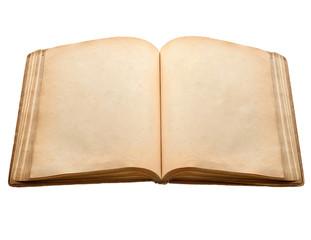 stara książka z pustymi żółtymi poplamionymi stronami
