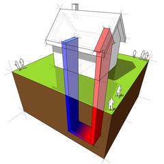 geothermal heat pump diagram