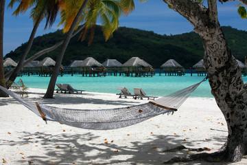 Hammock on Bora Bora beach