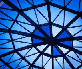 The roof structure of the modern architecture