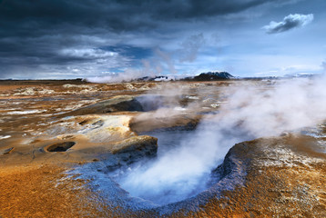 Steaming Mudpot