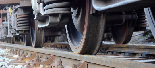Wheels of train