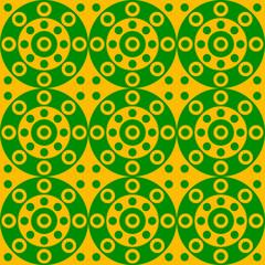 orange wallpaper with circles