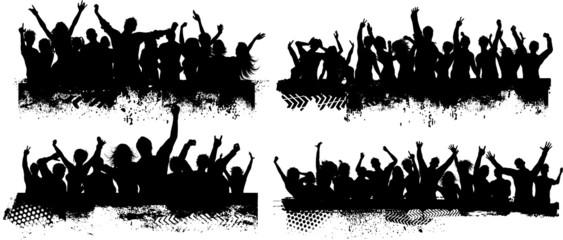 Sceny z tłumem grunge