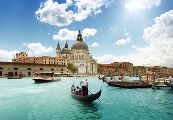 Kanał Grande i bazyliki Santa Maria della Salute, Wenecja, Włochy