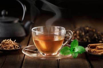 tazzina di thè caldo