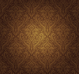 dark brown  vintage wallpaper design