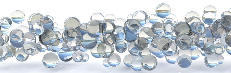 abstract transparent bubble flow