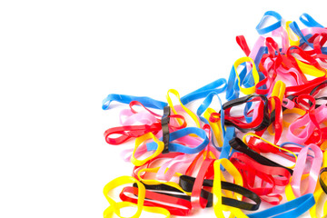 Colorful plastic band