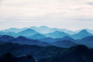 View on mountains from Corcovado, Rio de Janeiro, Brazil