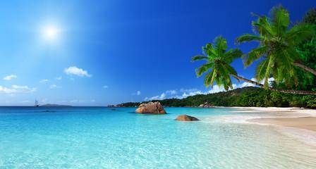 Anse Lazio plaża na wyspie Praslin, Seszele