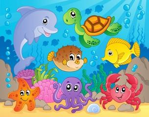 Obraz motywu rafy koralowej 5