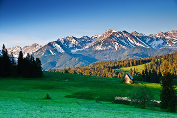 Polish Tatra mountains panoram in the morning