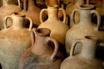 ancient Greek clay amphora