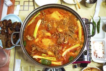 Korean kimchi duck stew