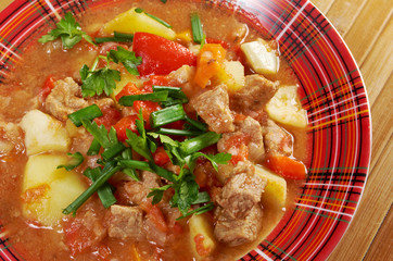 l Hungarian hot goulash soup