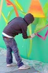 graffeur en action