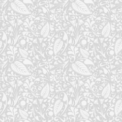 Silver floral pattern