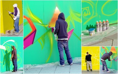 graffeur en action