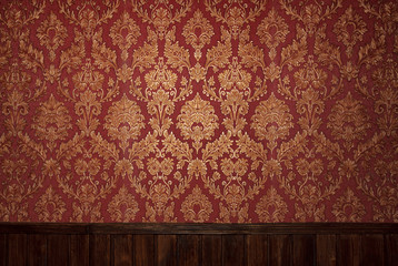 Red retro interior