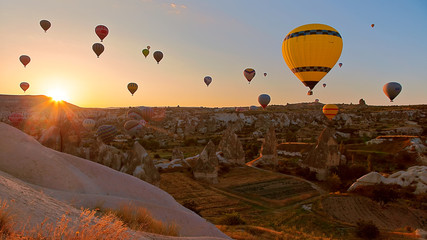 hot air balloon in goreme