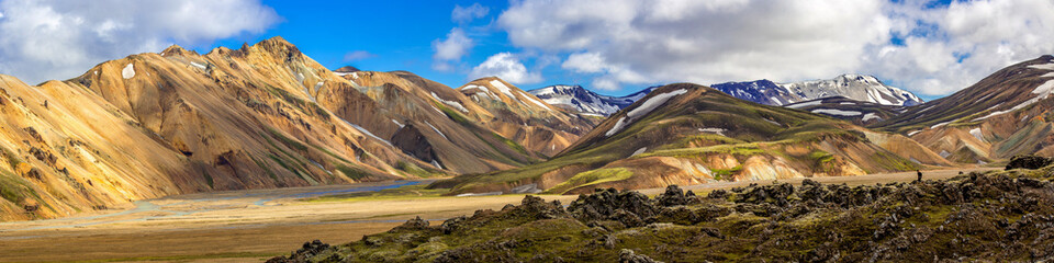 Panorama of Langmannalaugar, Highlands, Iceland
