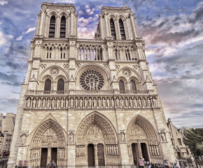 Notre Dame, the cathedral of Paris.