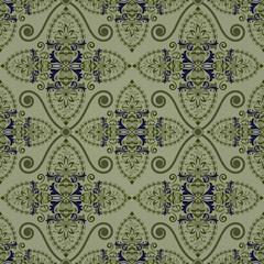 Seamless vintage green wallpaper background.