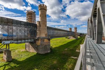 Historical bridge in Tczew, Poland