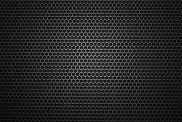 Black iron speaker grill texture. Industrial background