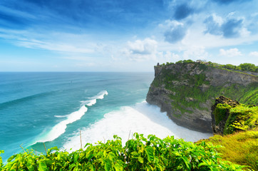 Coast at Uluwatu temple, Bali, Indonesia
