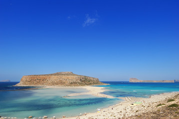 View of the lagoon Ballos(Balos) and the island Gramvousa