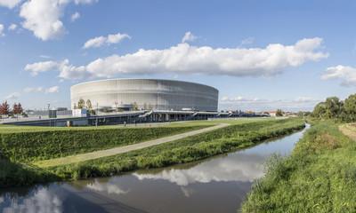 Soccer stadium in Wroclaw city (Poland)