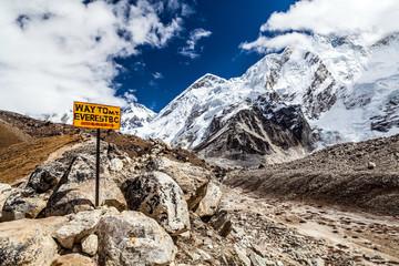 Mount Everest signpost