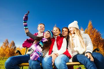 Self photograph of teen kids