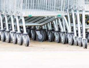 Wheel Cart,Shopping carts wheels closeup