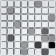 Abstract 3d background - grey cubes
