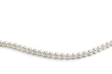Chain of white pearls