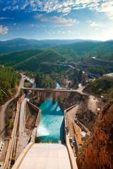 Presa Embalse de Contreras reservoir dam in Cabriel Rive
