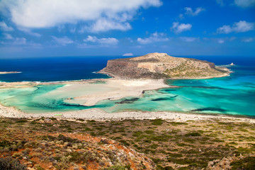 Balos lagoon from above