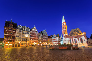 Roemer the old town of Frankfurt, Germany