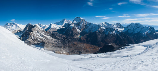 Panoramic view of Himalayas from Mera peak