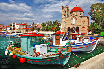 pictorial idyllic greek islands - Aegina