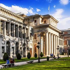 Exterior view of the Prado Museum in Madrid, Spain.