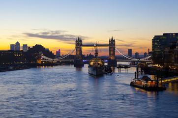 Tower Bridge Sunrise in London