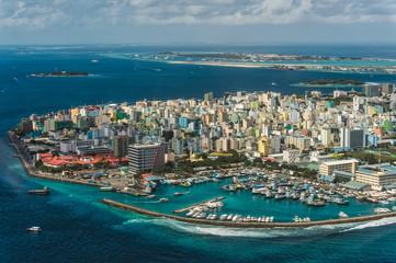 Stolica Malediwów z góry